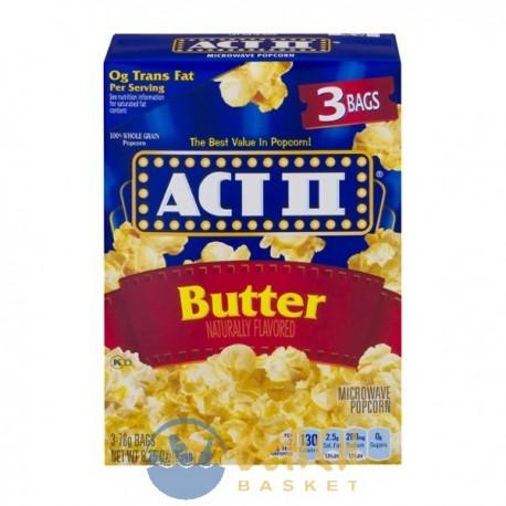 act ii microwave popcorn butter 3 ct beach basket belize