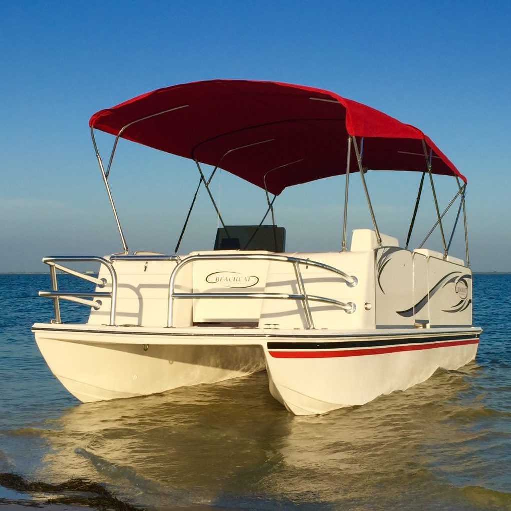 Fiberglass Series Beachcat Saltwater Pontoon Boats