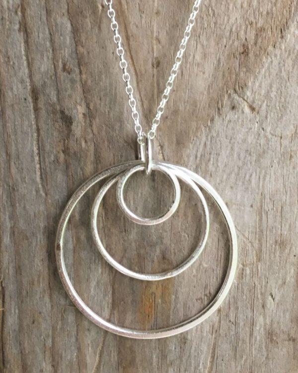 large sand circles pendant