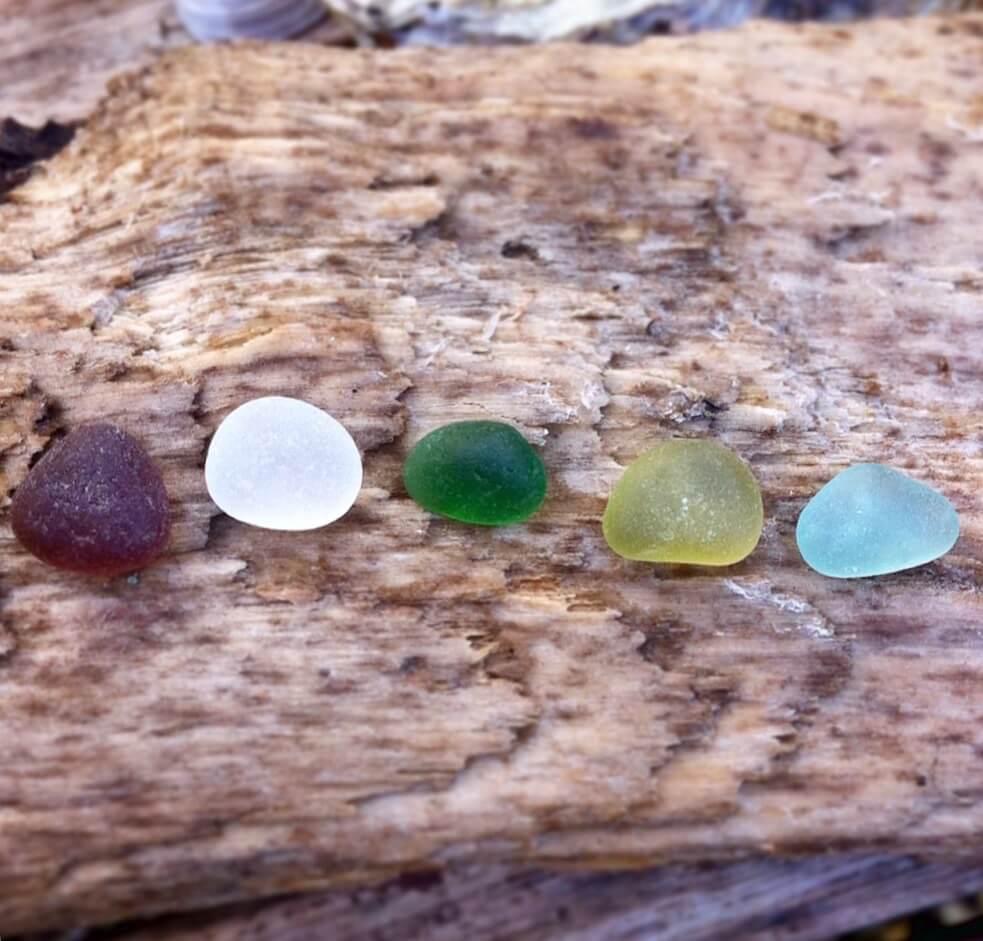 Sea glass selection