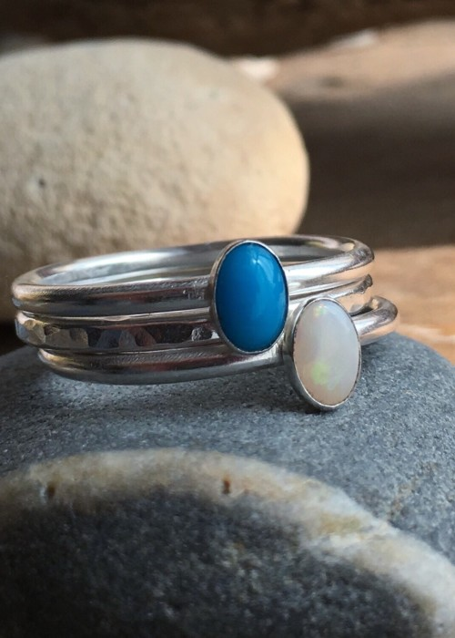 Day at the beach stacking rings