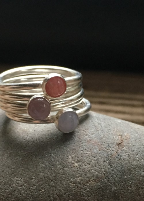 Sunrise stacking rings