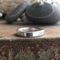 Shine recycled silver band ring