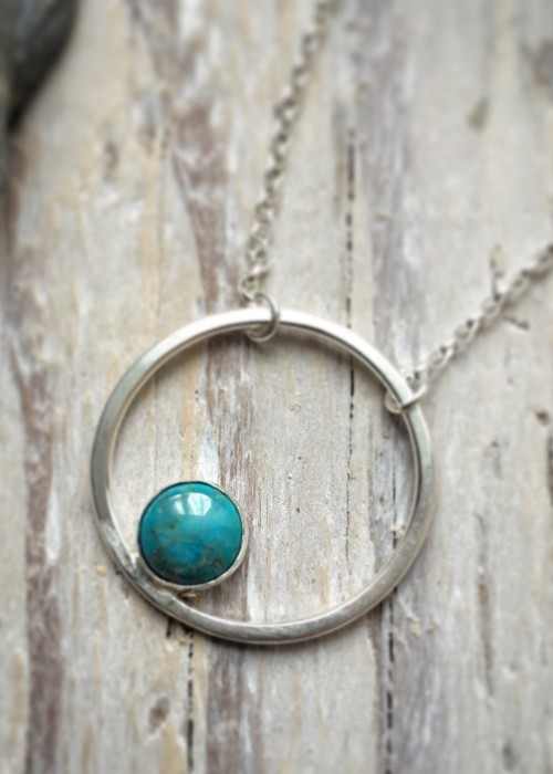 'circles' with turquoise pendant