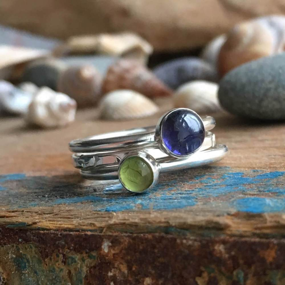 Bluebells on the Coast Path Stacking Rings
