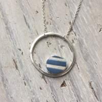 Sea Pottery Circle Pendant