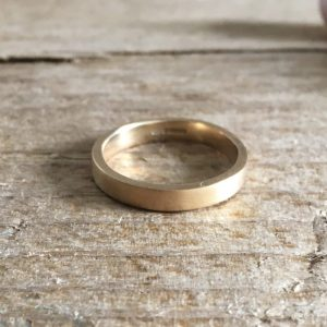 Awel recycled gold ring