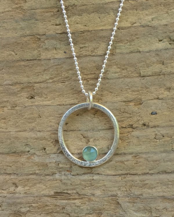 Sea and Sand Circle Pendant