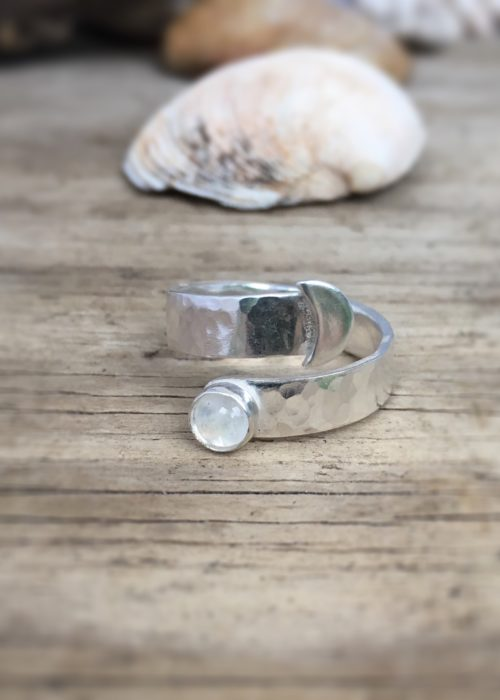 Moon on the water wrap ring