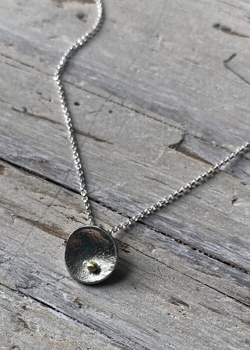 pebble in the sand pendant