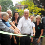 Ribbon cutting ceremony for Kew Beach School solar project