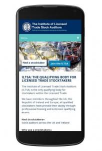 ILTSA responsive/mobile friendly website