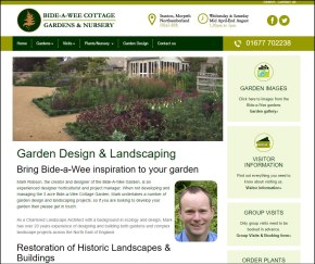 Bide-a-Wee Cottage Gardens website by Beach Hut Studio