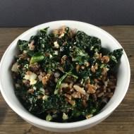 Kale, Farro and Feta Salad