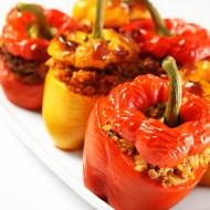 Crock Pot Stuffed Enchilada Peppers