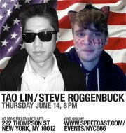 Tao Lin and Steve Roggenbuck in NYC