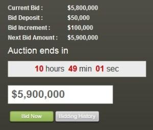 Corona Del Mar Ocean Front Auction Ends Today