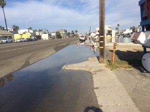 High Tide Reaches Pacfic Coast Highway