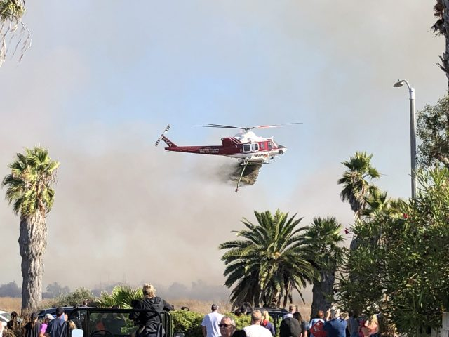 Bolsa Chica Wetlands Fire with the OC Fire Helicopter