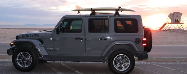 Sold Out - Bikes and Surfboards, Jeep with Surfboard