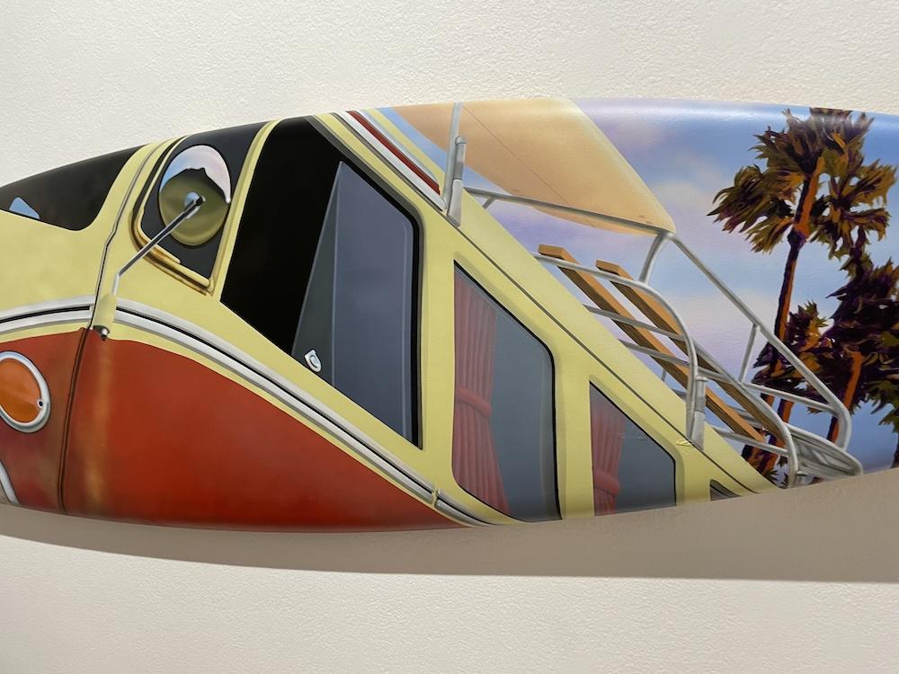 Surf Van On Surf Board