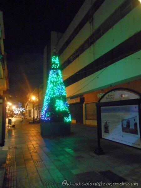 Christmas tree on Calle el Conde