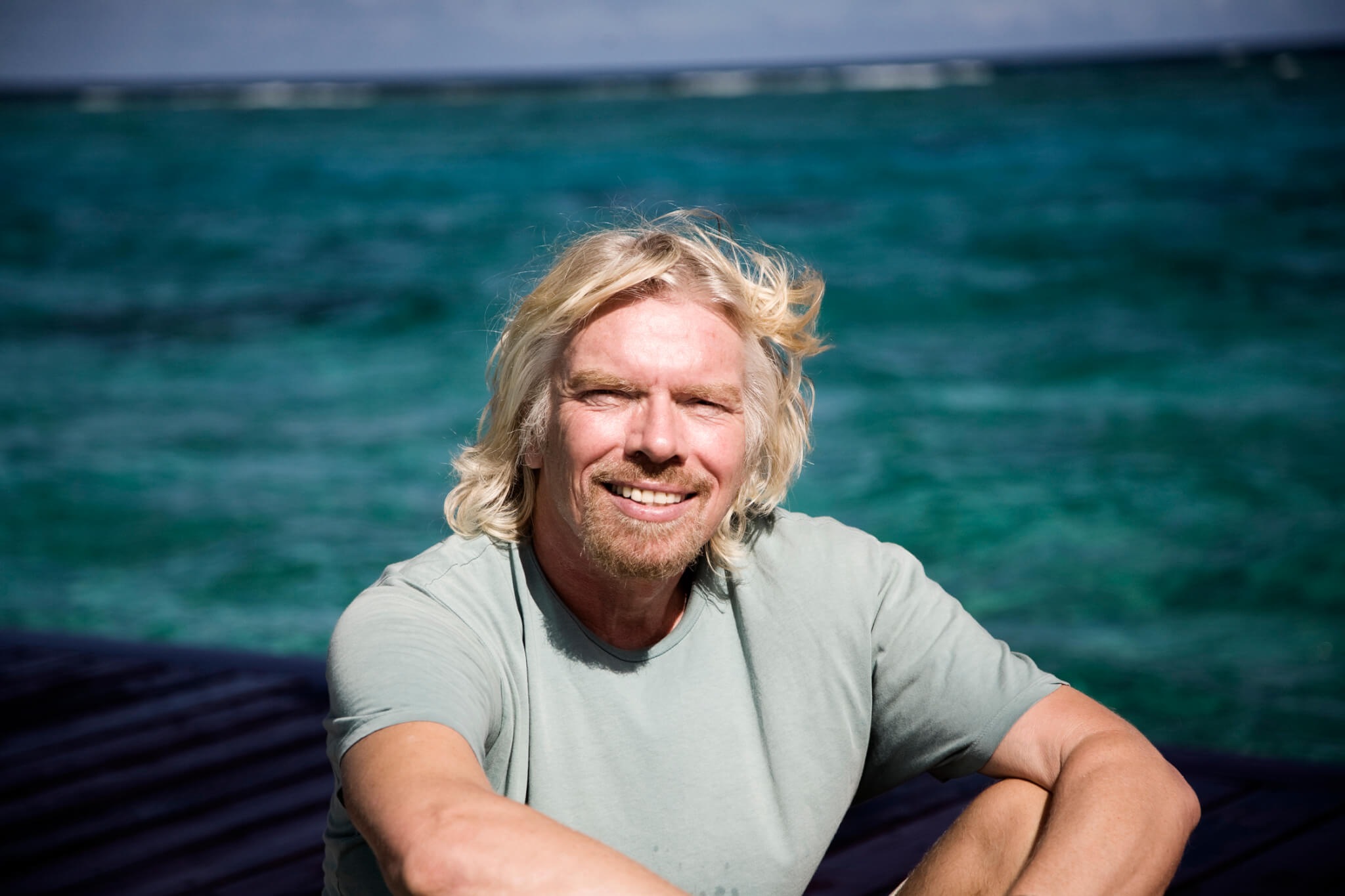 Tycoon Richard Branson visits Dominican Beach Town