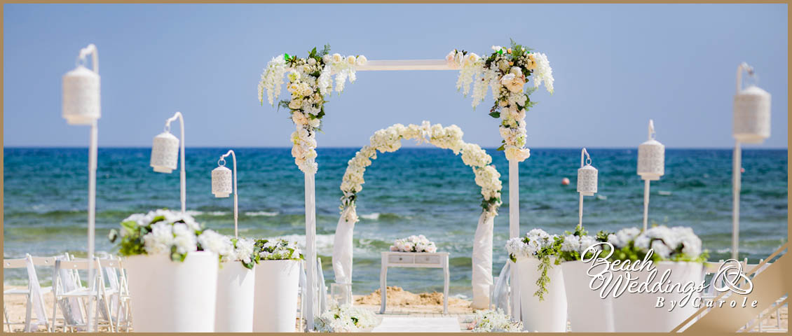Cyprus beach wedding