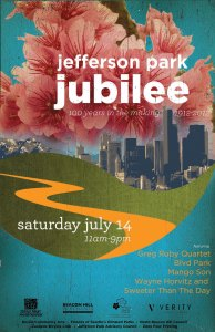 Jefferson Park Jubiliee event poster