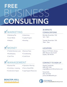 Free business consulting on Beacon Hill