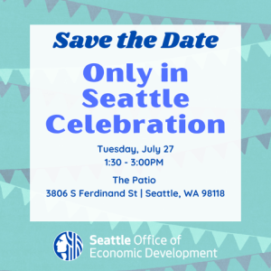 Only in Seattle Celebration flyer