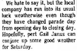 1974 bad weather