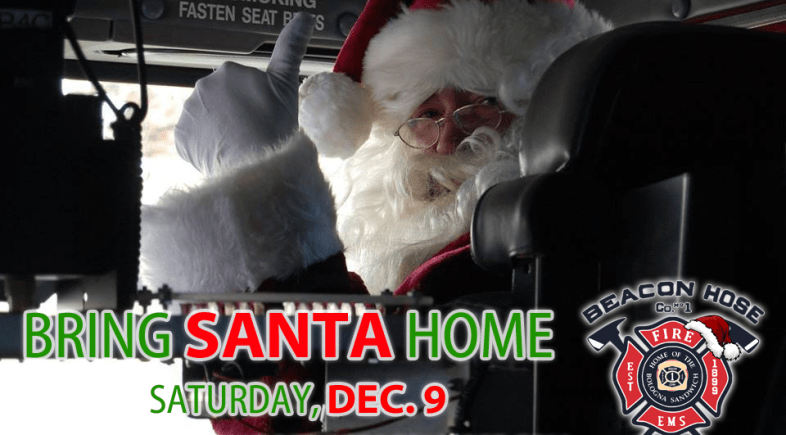 Bring Santa Home, Tree Lighting & Bonfire, and Lights Contest