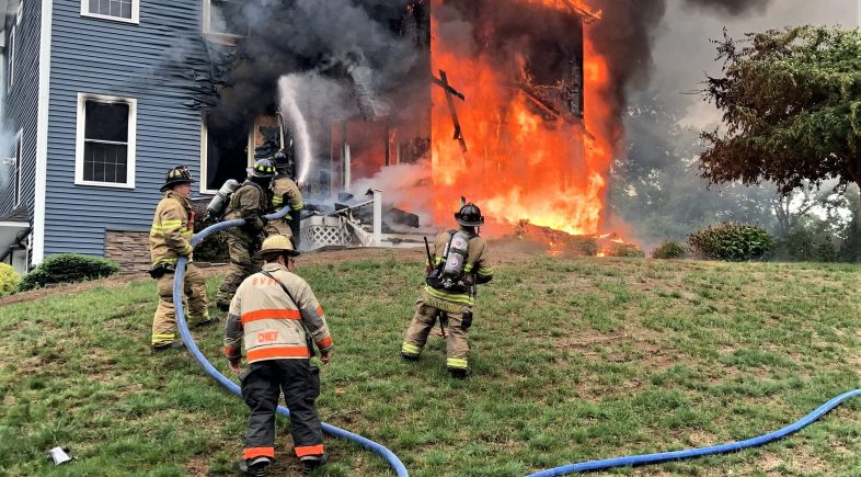 Beacon Hose Fights Fire at Morning Wood Drive Home
