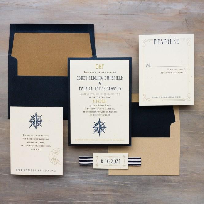 Nautical Bliss Wedding Invitations