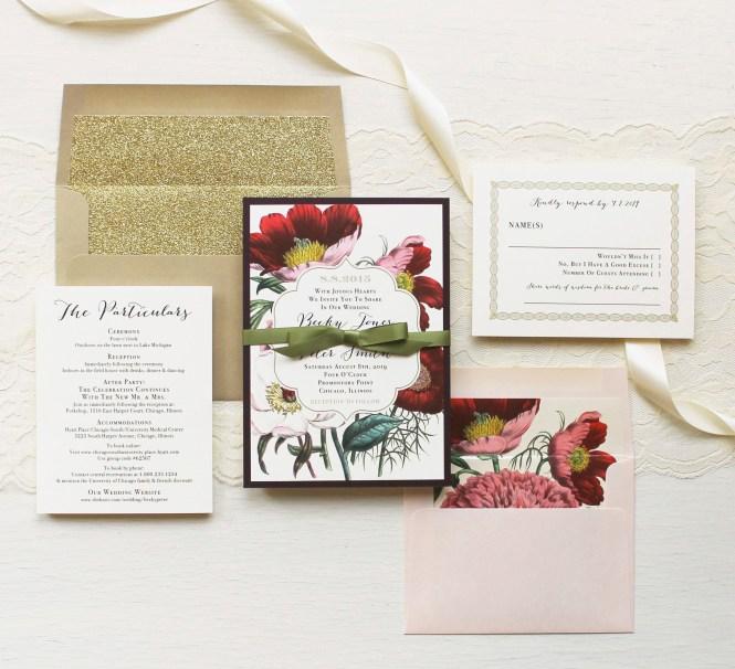 Fall Bohemian Wedding Invitation Set