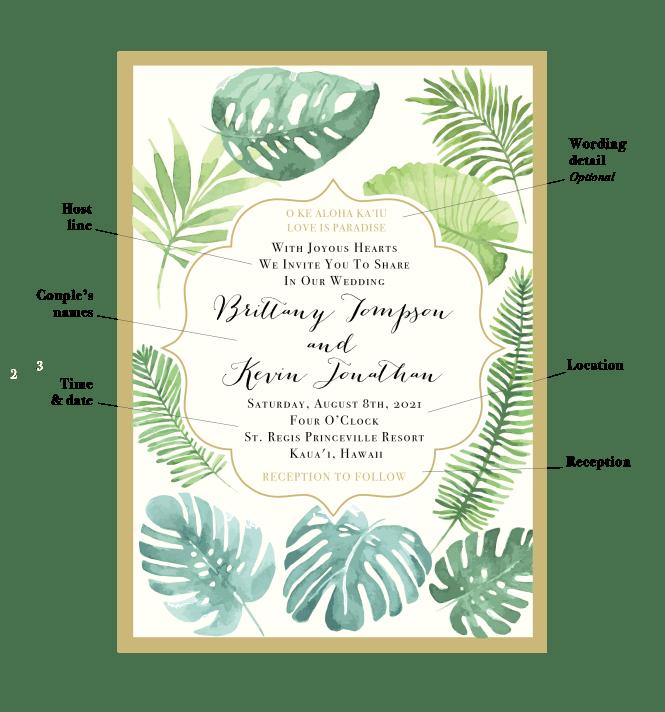 Word Your Destination Wedding Invites
