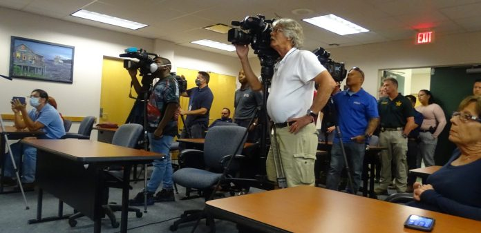 Media presence at the Monday press conference.