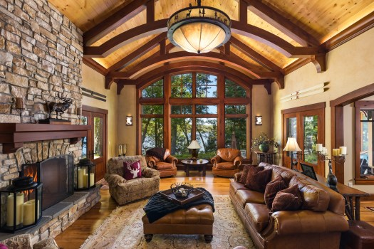 rustic cottage living room