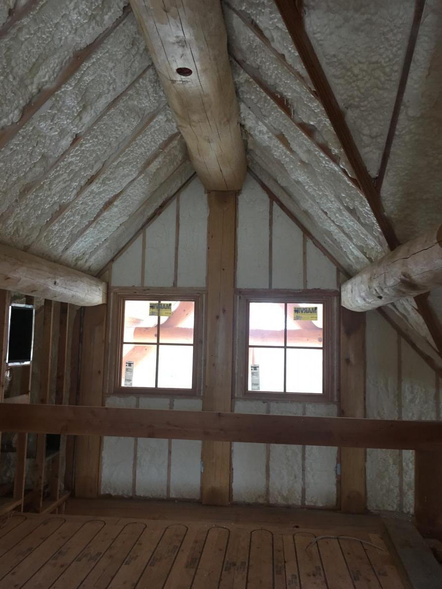 Bridgewater White Cedar Log Cabin Beacon Spray Foam Llc