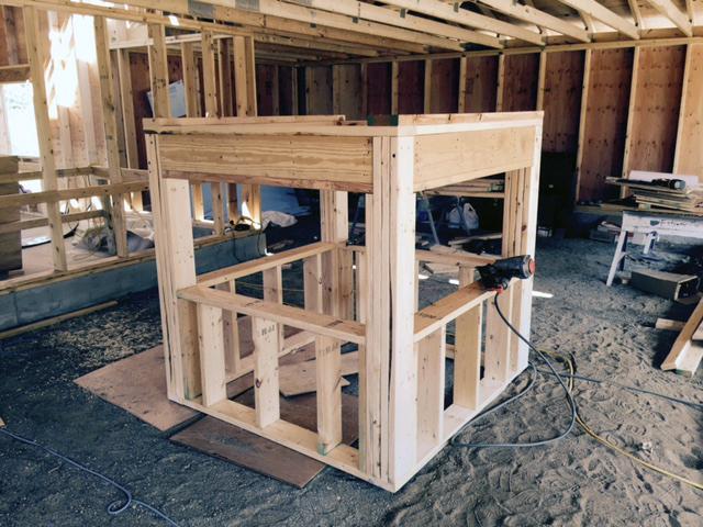 Barn cupola under construction