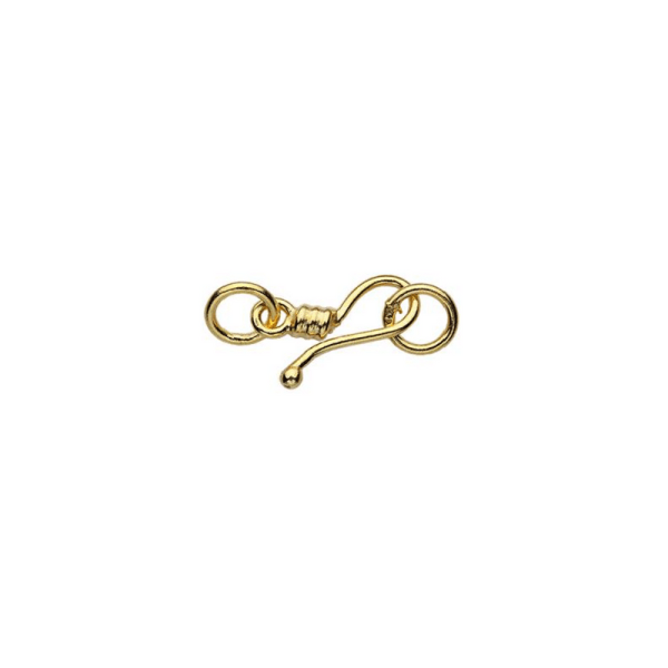 Gold Plated Over Sterling Silver Hook and Eye