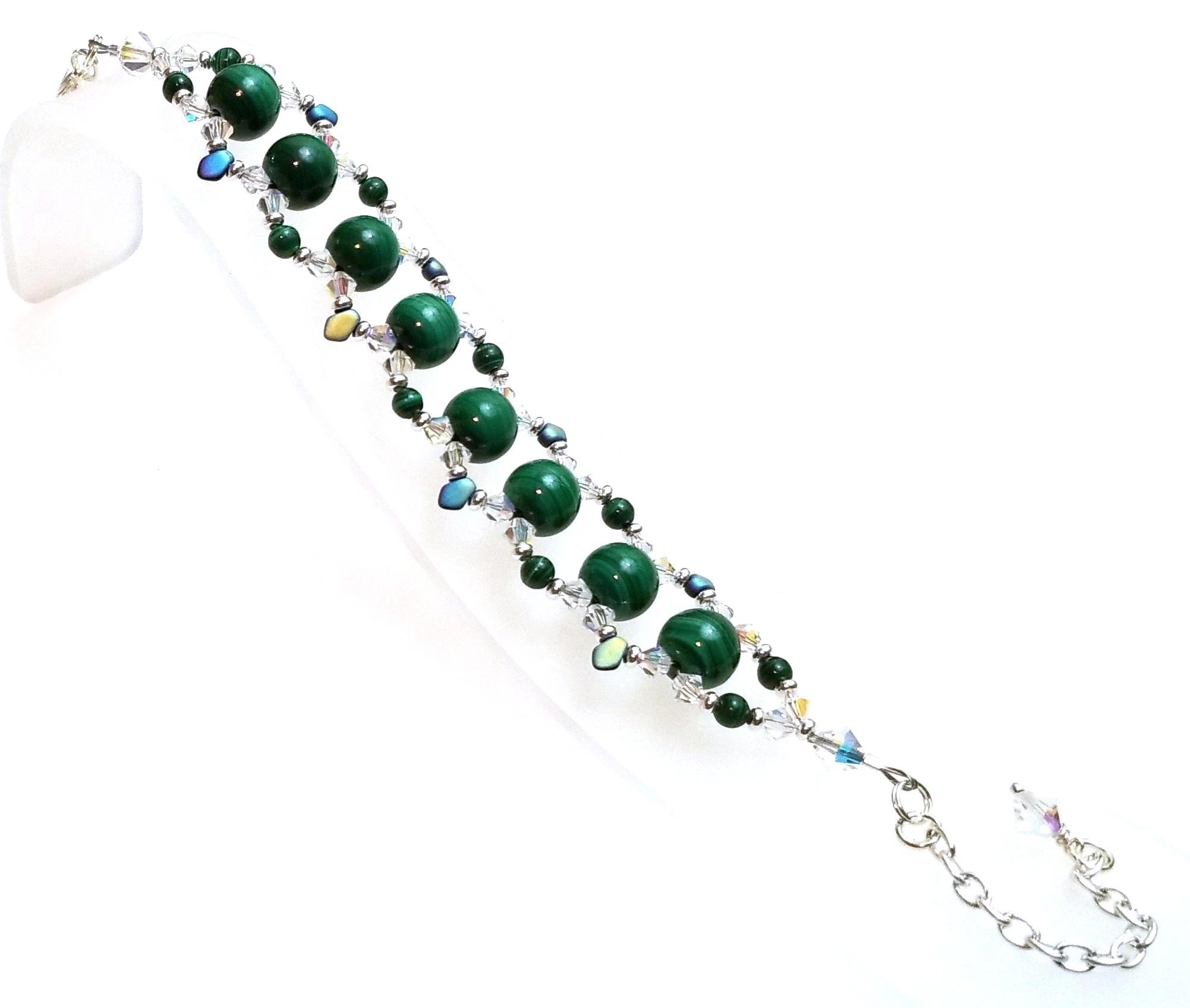 Malachite Vibrations Bracelet Beaded Jewelry Making Kit