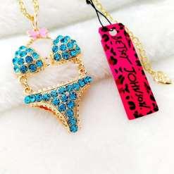 Betsey Johnson Blue Bikini Pendant