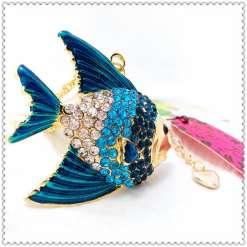 Betsey Johnson Blue Fish Pendant