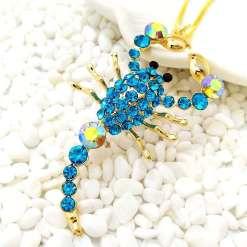 Betsey Johnson Blue Scorpion Pendant