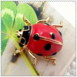 Betsey Johnson Ladybug Pendant