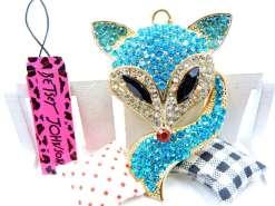 Betsey Johnson Light Blue Fox Pendant