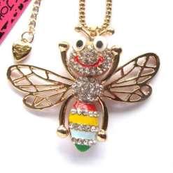 Betsey Johnson Multi-colored Bee Pendant