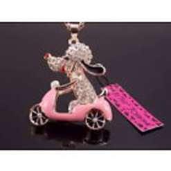 Betsey Johnson Pink Motorbike Pendant